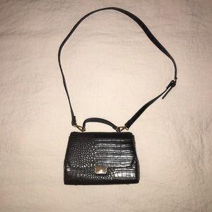 Zara Faux Croc Handbag